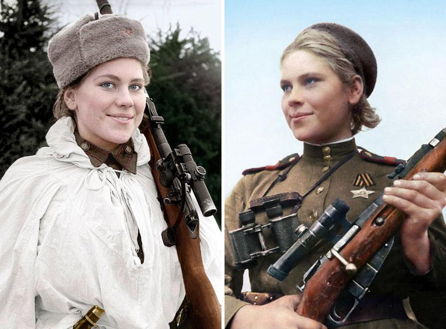 Portraits-colorises-de-femmes-snipers-russes-tueuses-de-nazis-2-roza-shanina